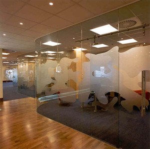 Office spaces that allow for the flow of natural light with transparent office partitions could help boost employee moral.